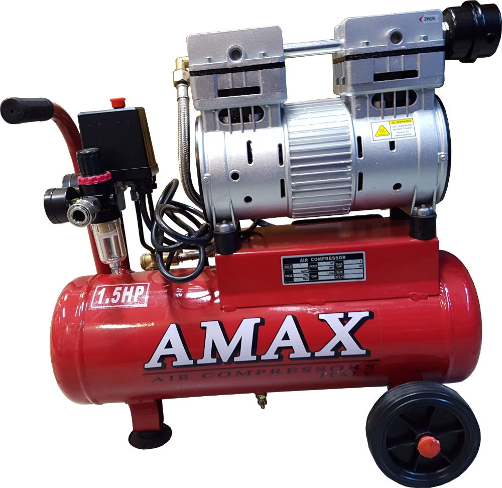Amax Low Noise Air Compressor 1 5hp 10l Air Compressors